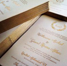 Laura Hooper Calligraphy wedding invitations