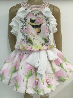 Anjo D'Agua   SAIA e Blusa Anjo D'agua Moda Infantil 6233 - Lila Baby e Cia Moda infantil