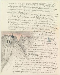 A page from the original manuscript of The Lord of the Rings.