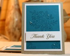 Handcrafted Thank You Cards - Set of 4 by PureGraceInspiration on Etsy