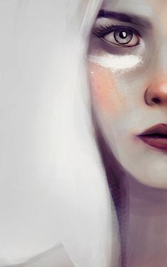 Manon Blackbeak [Digital Paintings by Merve Terzi, via Behance]