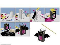 Idee für eine Fledermaus-Laterne