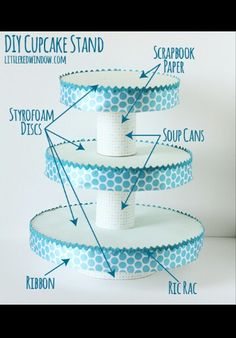 DIY Cupcake Stand...size to need.