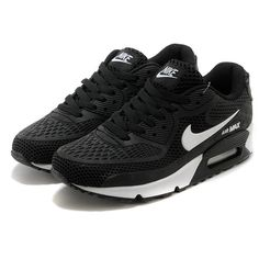 Nike Air Max 90 Essential Black and White Men Women ❤ liked on Polyvore featuring men's fashion