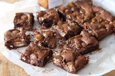 Brownies met paaseitjes en karamel - Francesca Kookt