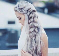 purple silver [ #silverhair #hairdye ]