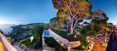 Garden, terraces view and swimmingpool