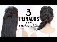 M Peinados con trenzas para cada día - YouTube