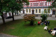 Blick in den Schlosshof des Welfenschlosses in Herzberg