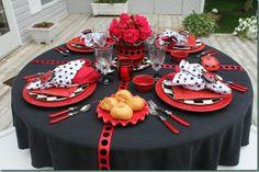 Ladybug tablescape