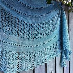 Vilana Shawl by Irina Lyubaeva. Yarn - Manos del Uruguay Fino in Watered Silk (404) colourway