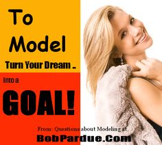 If you really want to succeed as a female #model you'll need to have a dream. Then, turn that dream into a goal and work on it every day.