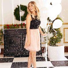 Lauren Conrad in an LC Lauren Conrad for Kohl's Dress