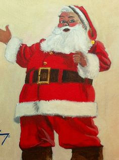 via Etsy. Santa Claus Is Coming To Town, Santas Workshop, Father Christmas, Ronald Mcdonald, Original Paintings, Santa Clause, Seasons, The Originals, Trending Outfits