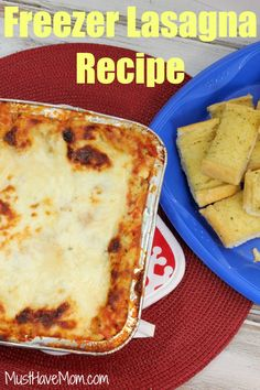 freezer lasagna recipe instead of buying preservative laden meals at the grocery store. Print this ...