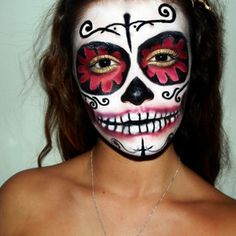 awesome day of the dead mask