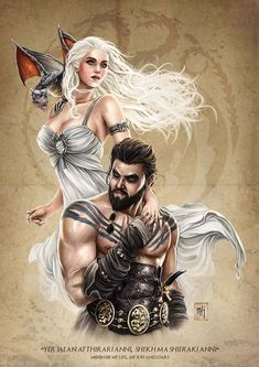 Mike Krome - Game of Thrones signed Print, in Artur & Biggi J.'s Print Collection Comic Art Gallery Room Khal Drogo, Daenerys Drogo, Game Of Throne Daenerys, Daenerys Targaryen, Game Of Thrones Khaleesi, Arte Game Of Thrones, Game Of Thrones Artwork, Game Of Thrones Fans, Got Dragons