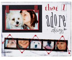 Flip Open a Photo     Kathleen used photo flips to create a hinged booklet on this layout, stashing her journaling underneath.