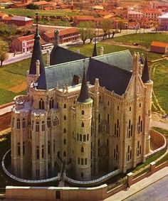 The Episcopal Palace of Astorga. 1889-1913. Astorga, #Spain. Antoni #Gaudí…