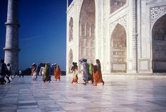 INDIA 1995 - Agra आगरा, Uttar Pradesh - visita al Taj Mahal di buon'ora  (foto G.Arcese)