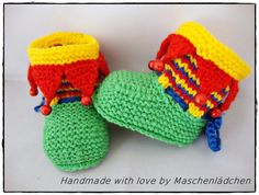 Strick- & Häkelschuhe - KCA 37 Babyschuhe  Babystiefel - ein Designerstück von Maschenlaedchen bei DaWanda