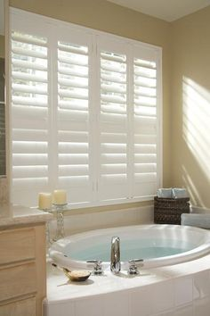 plantation shutters in bath ideas - Google Search