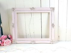 Your place to buy and sell all things handmade Shabby Chic Frames, Vintage Frames, Baby Shower Frame, Nursery Frames, Painted Picture Frames, Wedding Frames, Shabby Chic Cottage, Pink And Gold, Rustic Wedding