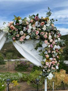 Excited to share this item from my #etsy shop: Blush Wedding Circle Ceremony Arch, Circle Wedding Flowers, Round Arch Flowers, Circular Wedding Arch Decor, Lux Round Circle Floral Swag Round Arch, Wedding Arch Flowers, Ceremony Arch, Floral Wreath, Swag, Blush, Wreaths, Etsy Shop, Table Decorations