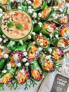 Exotic and Yummy Creamy Caviar Lime Peanut Sauce Thai Chili Recipe, Chili Recipes, Sauce Recipes, Peanut Sauce Recipe, Peanut Butter Sauce, Creamy Peanut Butter, Lime Recipes, Fruit Recipes, Healthy Spring Rolls