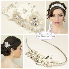 Bridal Accessories and Jewelry for a Rustic Vintage Wedding ~ #bride #bridal #wedding #bridalhair #bridalhairaccessories #weddinghairaccessories #bridaljewelry #weddingjewelry