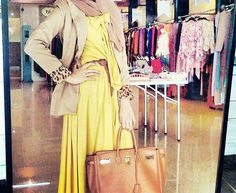 Yellow maxi #hijabstyle