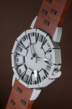 "The Esquire 10: Ball Watch by powerpig, via Flickr ~This LEGO watch was built & photographed for The Esquire 10. It was constructed to allow for a degree of detail, and measures approximately 20"" tall and 6"" wide. -Chris McVeigh"
