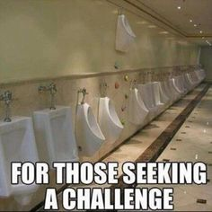 Rock climb urinal!  LOL