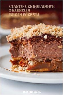 Zobacz zdjęcie Ciasto czekoladowe z karmelem (bez pieczenia) ilovebake.pl