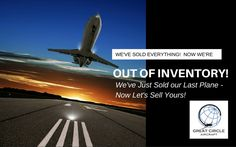 Business Jet Sales – We're Out of Inventory! Let us sell your jet.