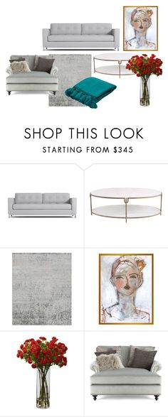 """living room"" by alijareau on Polyvore featuring interior, interiors, interior design, home, home decor, interior decorating, Global Views, Leslie Weaver, Massoud and Jaipur"