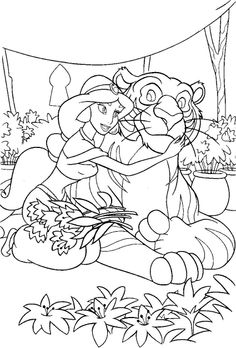 alladin castles coloring pages | disney princess aladdin colouring sheets free printable ...