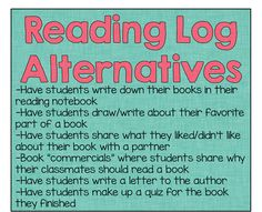 Alternatives to Reading Logs and a review of the Book Whisperer