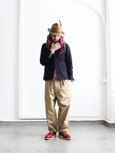 maillot(マイヨ)のウールメルトン地のCPOジャケットです。 テーラーリングの高い技術で作ってますので丁寧な縫製、そしてパターンも上手く非常に着...