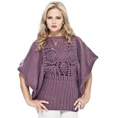Blusa uva rendada Elegance #trico #receita #esquema