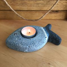 Fish Candle Holder/ Beach Gift/ Nautical Decor/ by SerayDesign