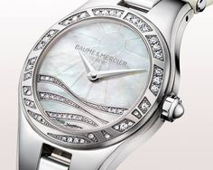 Baume & Mercier diamond and mother-of-pearl watch.
