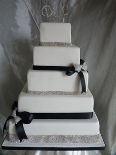 Elegant Wedding Cakes | Elegant Bling Wedding Cake 5 Tier 12″, 10″, 8″, 6″ & 4 ...