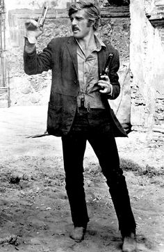 Robert Redford on the set of Butch Cassidy and the Sundance Kid,  1968.