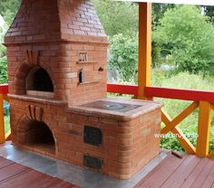 Here is a picture of a great pizza oven from Forno Bravo Community Forum member valentin from Russia (http://www.bruy.info).