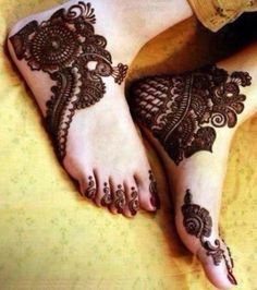 Feet Mehndi Designs for Bridal 46