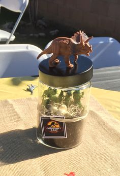 Dinosaur Centerpieces Dinosaur Birthday Party, Birthday Party Themes, Boy Birthday, Dinasour Party, Dinosaur Party Decorations, Jurassic Park Party, Dinosaur Crafts, The Good Dinosaur, Party Centerpieces