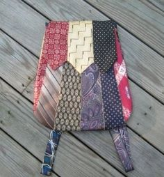 The Sewing Geek: A necktie backpack front view  I love when I can give new life to old ties!!