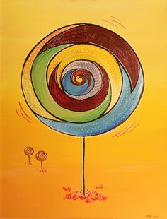 my sweet lollipop, painting - Acryl on canvas