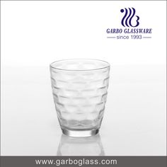 High quality pressed machine made glass tumbler, for water drinking, for home using.